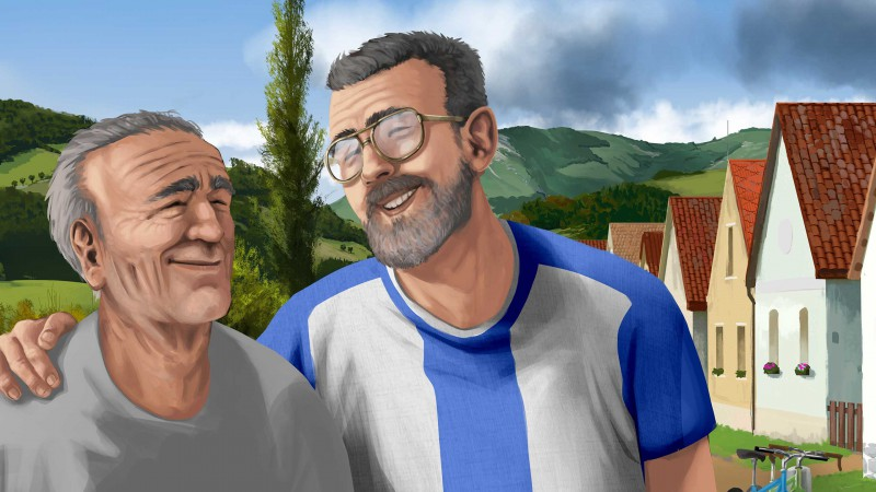 Albert s dědečkem